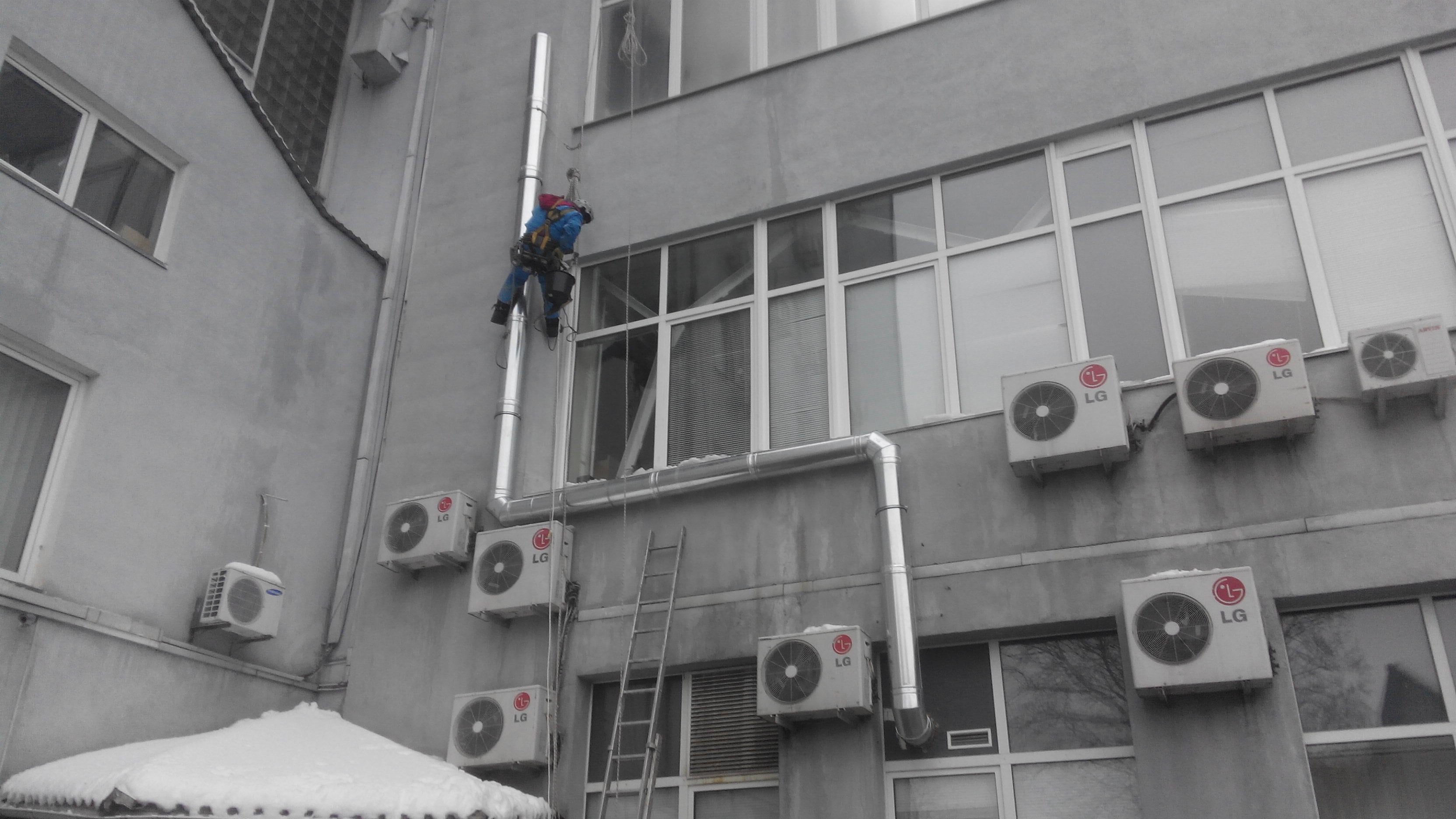 Installation of pipes canals Kiev