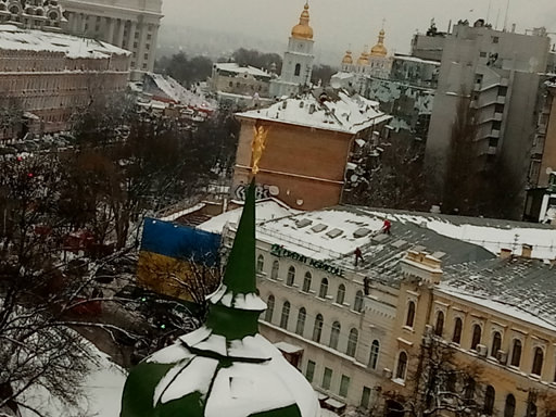 чистка снега с крыш